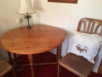 Pine Dining Table & w2 Chairs