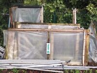 18ft x 56ft heavy duty nursery polytunnel complete with polythene - Greenhouse - Gardening - Farming