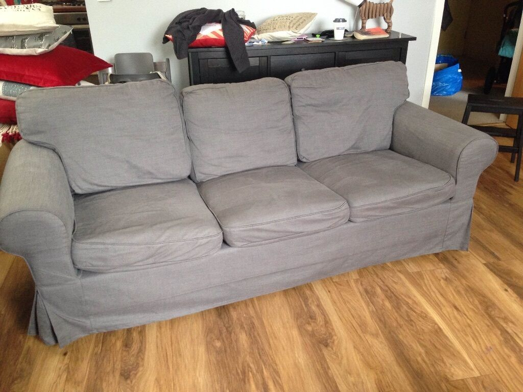 Three Seater Ektorp Sofa (Nordvalla dark grey) in Houston, Renfrewshire Gumtree