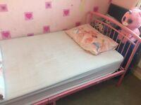 Girls pink bed frame