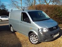 vw t5 transporter, 2007, 2.5l, 130 bhp, silver, 95000m, 18 inch alloys, roof bars,