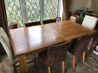 Solid Table and chairs with Coffee table