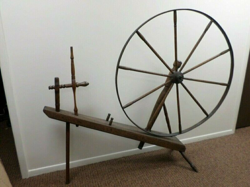 "Antique ""Big Wheel"" Spinning Wheel 42.5"" Diameter (Local Pickup ONLY)"