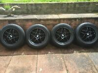 Genuine BBS 7.5 x 16 VZ Alloys and tyres 5 x 100 PCD VW Audi and Subaru REDUCED £280 ONO ONO