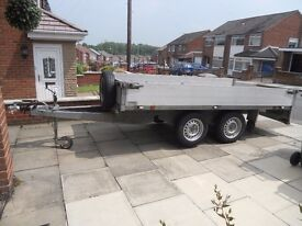 EXCELLENT CONDITION FLAT BED TRAILER 2000 KG £1650 o.n.o