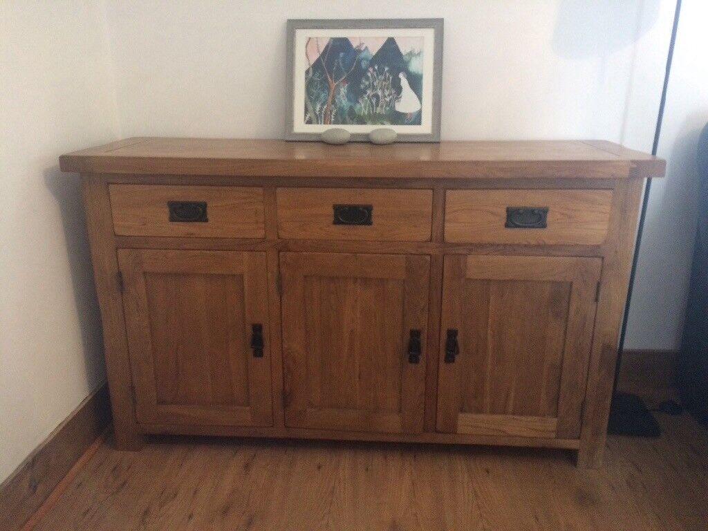 solid oak sideboard oak furniture land rustic in. Black Bedroom Furniture Sets. Home Design Ideas