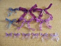 12 Assorted Purple Mauve Bows Christmas Tree Decorations Flower Arrangements Crafts