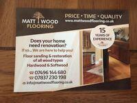 ''MATT WOOD FLOORING'' WOOD FLOOR SERVICE/ BEST PRICE & QUALITY