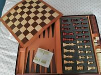 Chess & Backgammon set in carry case