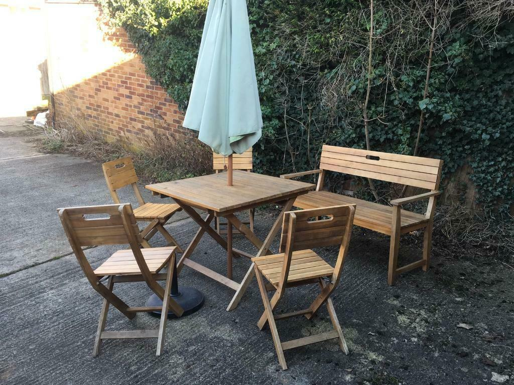 Summer Is Here Bq Garden Table4 Chairs And A Benchparasol And Holder In Banbury Oxfordshire Gumtree