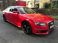 Audi A4 S-line 2010 Red