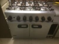 Lincat 6 Burner oven cooker 900mm long natural gas