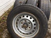 Toyota hiace steel wheels with tyres