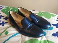 UK 8 Metallic Blue Loafers