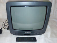 Vintage Gaming CRT TV - Ferguson D14R with Remote - Very Good Working Condition