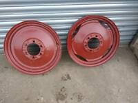tractor front rims x 2 prob. early ferguson ones