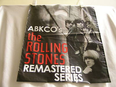 ROLLING STONES ABKCO Remastered Series 2002 promo only Plastic Record Store Bag