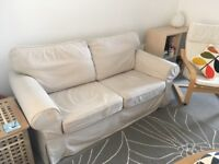 IKEA Ektorp beige 2 seater sofa