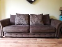 Free brown DFS 4 seater sofa