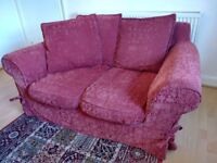 Red Two-Seater Sofa