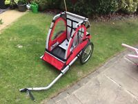 Halfords single seat bike trailer used once
