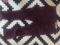 MENs ALLSAINTS purple trousers, used once
