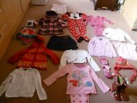 Bundle Of Girls Clothes Aged 2-4 Years Inc Brand New Coat + Free Bin Bag Books, Toys