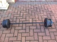 songmics rubber weights and Bar set 20kg