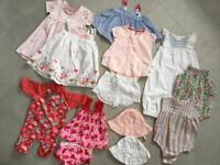 Girls mixed bundle 6-12months swimming costume, safe in the sun, dresses, short