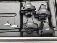 Thule wing Aluminium Roof Bars 962, Fitting Kit 1715 & Footpack 754