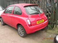 Nissan Micra Sport + 3 door hatch back 1300cc 2006. !!!!!BREAKING FOR SPARES / PARTS !!!!!