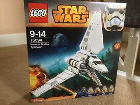 LEGO 75094 STAR WARS Imperial Shuttle Tydirium - new unopened retired set