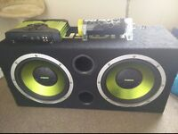 Fusion Subwoofer with amp and battery