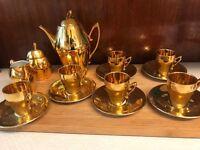 Coffee set (Demitasse) gold fine china
