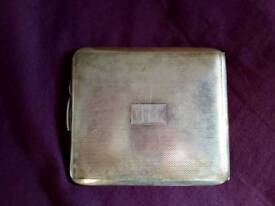 Silver plated cigarette case