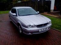 Jaguar X-Type. V6 Auto. Petrol. 2495 cc. Reg 2001. 4 door saloon. Low Mileage 70,000. No MOT.