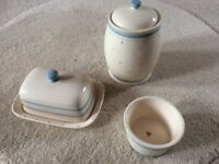 John Lewis Butter Dish, Sugar Bowl and Tea Caddy