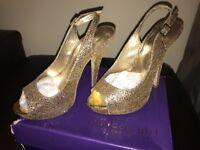 Madden Girl glitter peep toe glamour heels