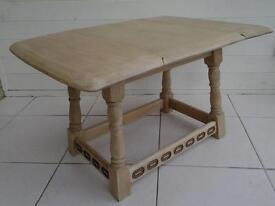 coffee table, drop leaf, hardwood, oak, ercol? priory, vintage