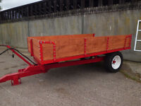 tipping trailer fully refurbished,all new timber,lights, good ram 10x6 great shape