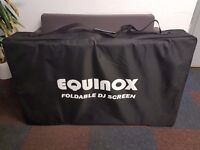 Equinox Foldable DJ Screen White with Carry Bag Mobile DJ Disco Lightweight Looks NEW!!!