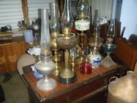 selection of oil lamps