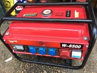 Used twice silent petrol power generator Wurzburg W-8500