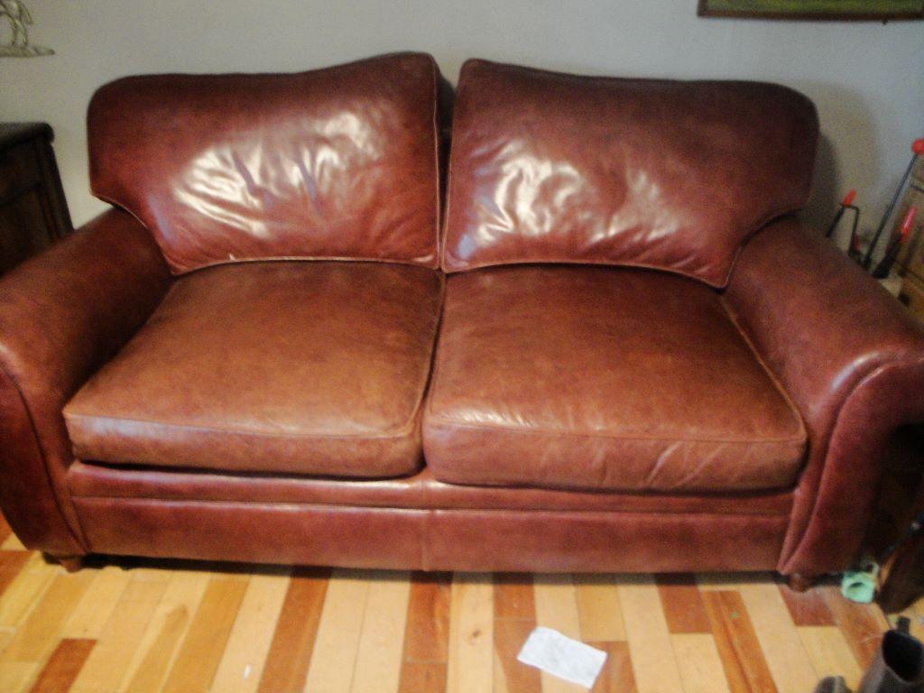 Laura Ashley Southfield Leather Sofa Reduced