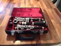 Clarinet complete with case and music stand
