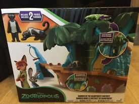 BRAND NEW Disney Zootropolis Danger in the Rainforest District + 6 figurines