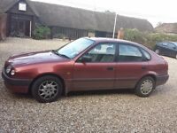 1998 Toyota corolla Spares or repaires