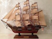 Handcrafted Antique Model Ship (HMS Bounty)