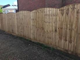 Arch top pressure treated vertical board heavy duty fence panels