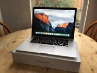 Macbook Pro Retina 15.4 inch Mid 2015 2.8 GHz Intel Core i7 16GB RAM 500GB SSD - Great Condition